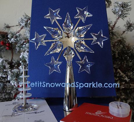 2005 SWAROVSKI CHROME CHRISTMAS TREE TOPPER