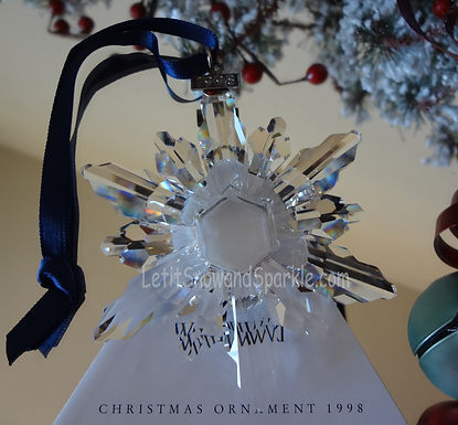 1998 Swarovski Annual Edition Christmas Ornament