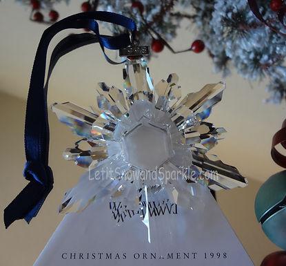 1998 Swarovski Annual Edition Christmas Ornament