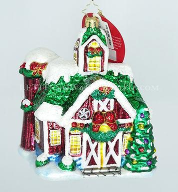 Christopher Radko Farm Fiesta Barn 1018817 Unique Christmas Ornament