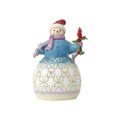 Jim Shore Heartwood Creek Snowman with Cardinals 6001478 New 2018