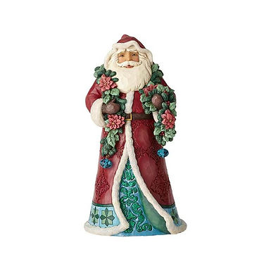 Jim Shore Heartwood Creek Wonderland Santa with Garland 6001420 New 2018