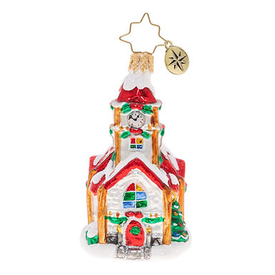 Christopher Radko Christmas Chapel Little Gem 1020560 Christmas Ornament