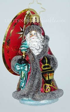 Christopher Radko Traveling Father Christmas Gem 1020241 Christmas Ornament