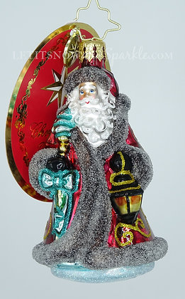 Christopher Radko Traveling Father Christmas Gem 1020241 Christmas Ornament
