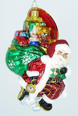 Christopher Radko Almost Time for Christmas! Santa 1019876 Christmas Ornament