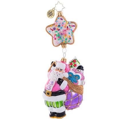 Christopher Radko Sugar High In The Sky Santa 1020680 Christmas Ornament