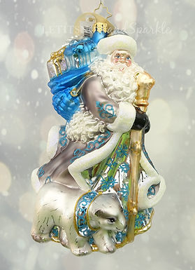 Christopher Radko Silver Lining Santa 1019695