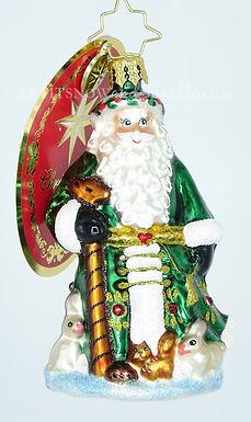 Christopher Radko Little Gem Santa's Furry Friends 1019204 Christmas Ornament