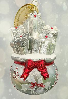 Christopher Radko Lustrous Bag Of Goodies 1019805 Unique Christmas Ornament