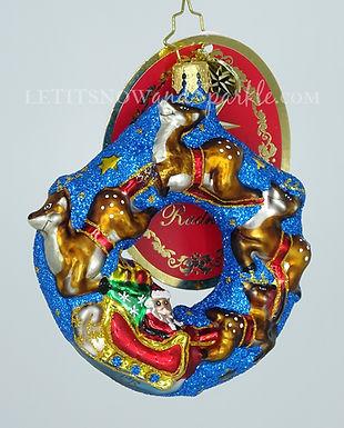 Christopher Radko Santa's Midnight Ride Gem 1019739 Unique Christmas Ornament