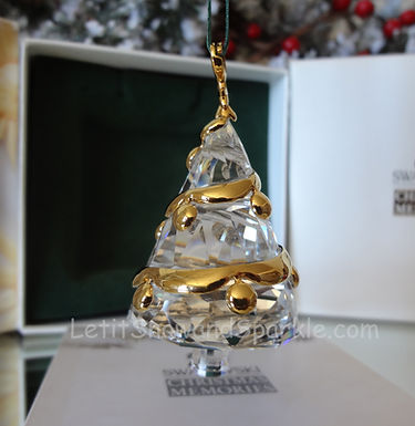 Swarovski Crystal Memories Tree 219870 Christmas Ornament Retired