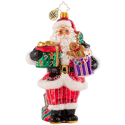 Christopher Radko Sugar Craving Claus Santa 1020729 Christmas Ornament