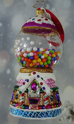 Christopher Radko Gumball Goodies 1020027 Unique Christmas Ornament
