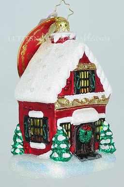 Christopher Radko Built Brick By Brick Houses 1020358 Christmas Ornament