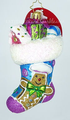 Christopher Radko Something Sweet Stocking 1019885 Unique Christmas Ornament