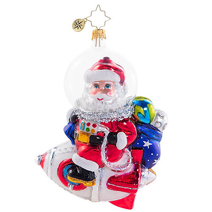 Christopher Radko Galactic Christmas Delivery Santa 1020705 Christmas Ornament