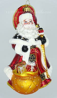 Christopher Radko Gilded Gifts Santa 1020219 Unique Christmas Ornament