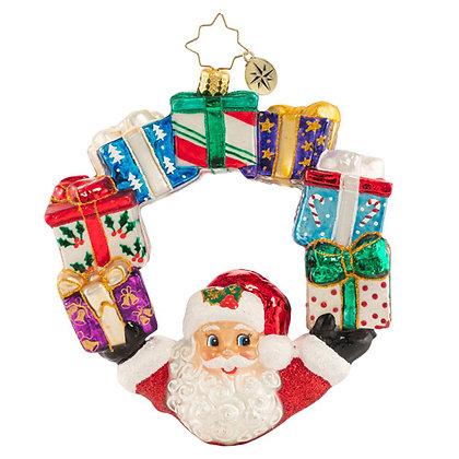 Christopher Radko Ring Of Delights Santa Wreath 1020775