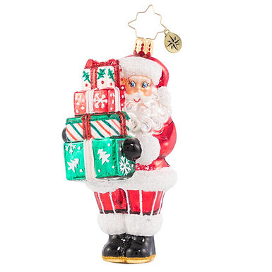 Christopher Radko Time To Celebrate Santa 1020771 Christmas Ornament