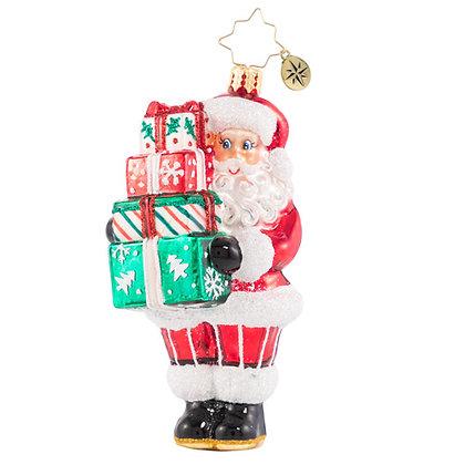 Christopher Radko Time To Celebrate Santa 1020771 Christmas Ornament