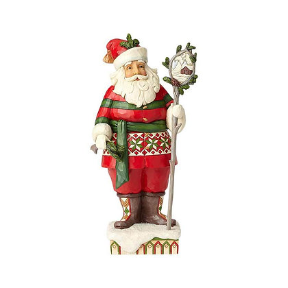 Jim Shore Heartwood Creek Woodsy Santa with Staff Scene 6001469 New 2018