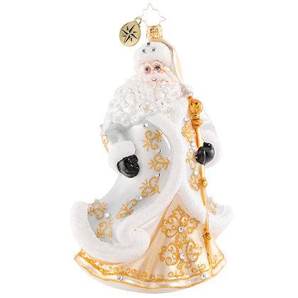 Christopher Radko Gleaming In Golden Radiance Santa 1020612 Christmas Ornament