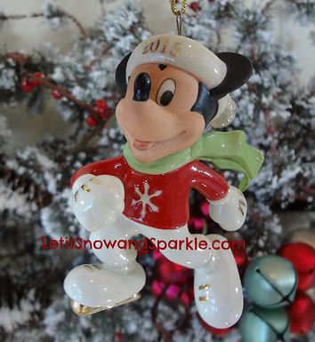 2015 Disney's Off To the Rink, Mickey Mouse Orname