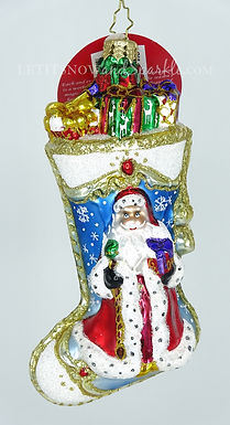 Christopher Radko Winter Time Stocking 1019773 Christmas Ornament