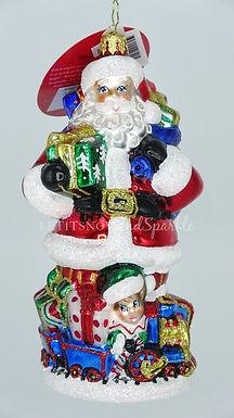 Christopher Radko Another Trip Around The Track Santa 1020548 Christmas Ornament