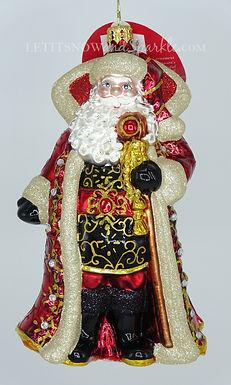 Christopher Radko Illustrious Santa 1019697 Unique Christmas Ornament