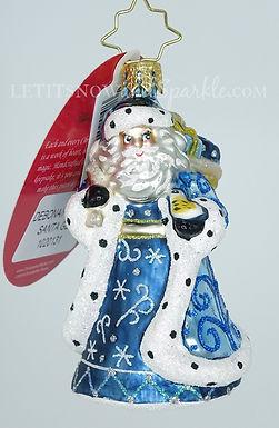 Christopher Radko Debonair Winter Santa Gem 1020131 Unique Christmas Ornament
