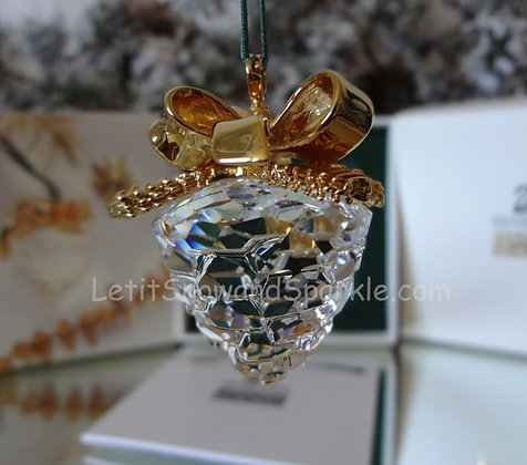 Swarovski Crystal Memories Pine Cone 209452 Christmas Ornament Retired
