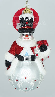 Christopher Radko A Superb Snowman 1020139 Christmas Ornament