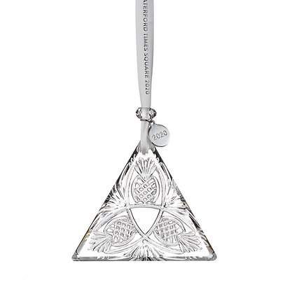 Waterford 2020 Times Square Triangle Ornament