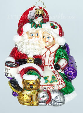 Christopher Radko Mr & Mrs Clause Pause 1019153 Unique Christmas Ornament