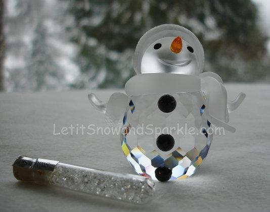 SWAROVSKI CRYSTAL SNOWMAN 250229 CHRISTMAS FIGURINE ORNAMENT RETIRED