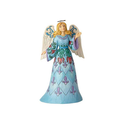 Jim Shore Heartwood Creek Winter Wonderland Blue Angel 6001422 New 2018