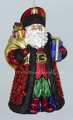Christopher Radko Cozy In Crimson Santa 1020340