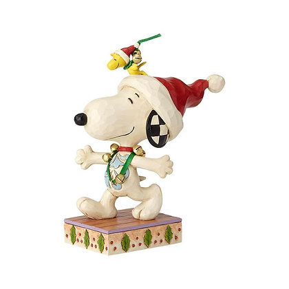 Peanuts by Jim Shore Snoopy and Woodstock with Jingle Bells 6000985 New 2018