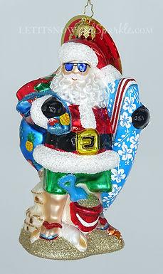 Christopher Radko Shredding The Gnar Santa 1020425 Unique Christmas Ornament