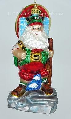 Christopher Radko Holiday Hiker Santa 1020405 Christmas Ornament