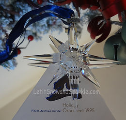 1995 Swarovski Annual Edition Christmas Ornament
