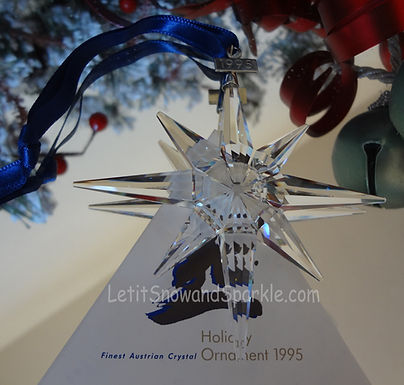 1995 Swarovski Annual Edition Christmas Ornament