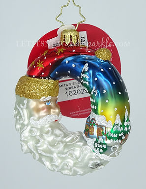 Christopher Radko Santa's Silent Night Wreath Gem 1020227 Christmas Ornament