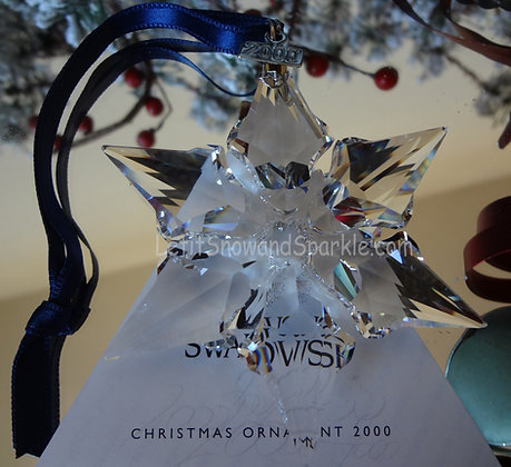 2000 Swarovski Annual Edition Christmas Ornament