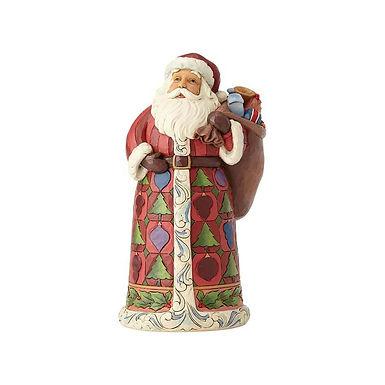 Jim Shore Heartwood Creek Lapland Santa with Toy Bag 6001464 New 2018