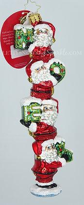 Christopher Radko Santa's Little Noel 1020310 Unique Christmas Ornament