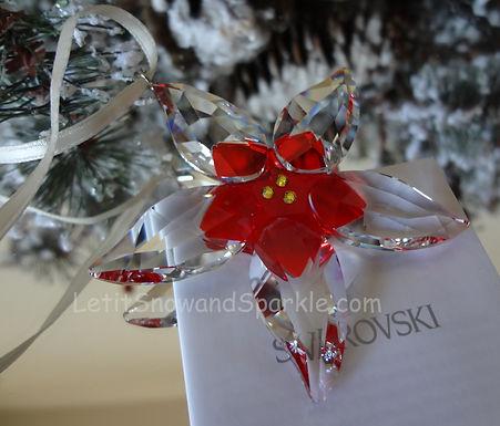 Swarovski Large Poinsettia Ornament 905212 Christmas Retired
