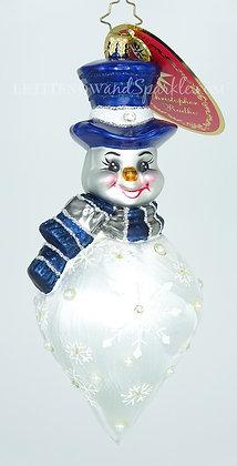 Christopher Radko Snowflake Cascade Snowman 1019800 Unique Christmas Ornament